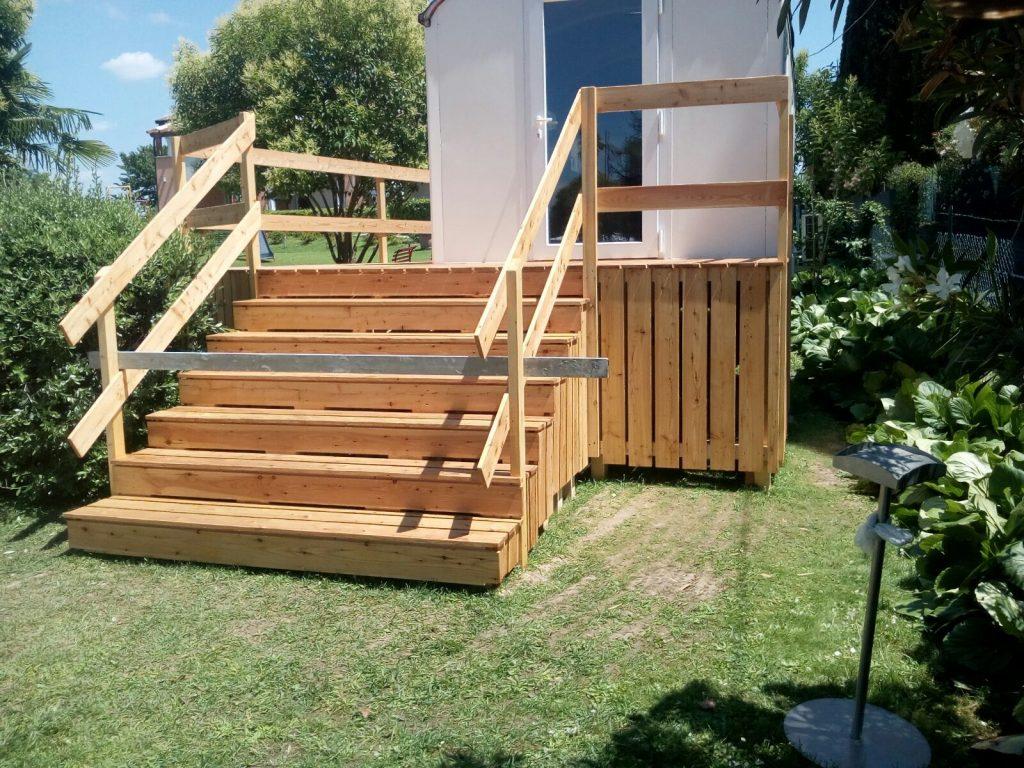 Scala legno giardino